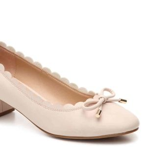 Kelly & Katie Cadena Pink scalloped spring heels